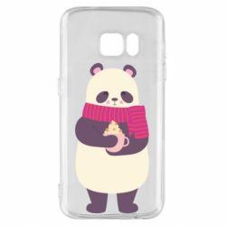 Чехол для Samsung S7 Panda and Cappuccino