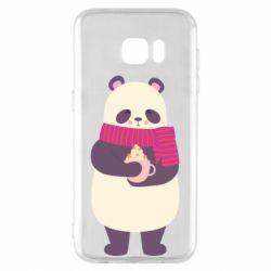 Чехол для Samsung S7 EDGE Panda and Cappuccino