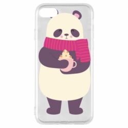 Чехол для iPhone 8 Panda and Cappuccino