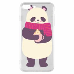 Чехол для iPhone 8 Plus Panda and Cappuccino