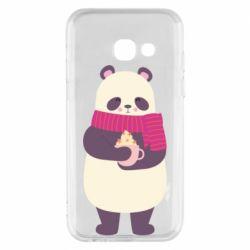 Чехол для Samsung A3 2017 Panda and Cappuccino