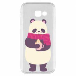 Чехол для Samsung A5 2017 Panda and Cappuccino