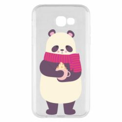 Чехол для Samsung A7 2017 Panda and Cappuccino