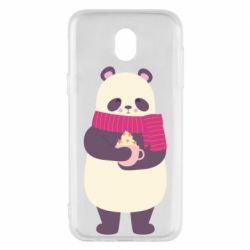 Чехол для Samsung J5 2017 Panda and Cappuccino