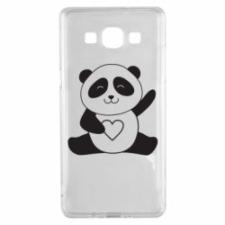 Чохол для Samsung A5 2015 Panda and heart
