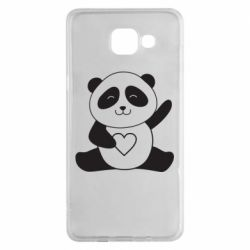 Чохол для Samsung A5 2016 Panda and heart