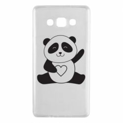 Чохол для Samsung A7 2015 Panda and heart