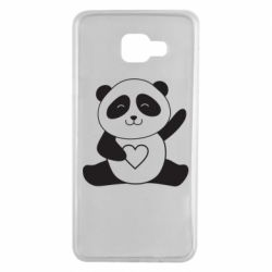 Чохол для Samsung A7 2016 Panda and heart