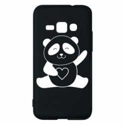 Чохол для Samsung J1 2016 Panda and heart