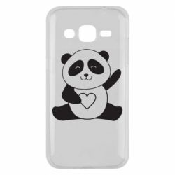 Чохол для Samsung J2 2015 Panda and heart