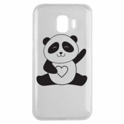 Чохол для Samsung J2 2018 Panda and heart