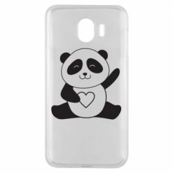 Чохол для Samsung J4 Panda and heart