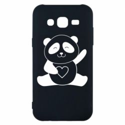 Чохол для Samsung J5 2015 Panda and heart