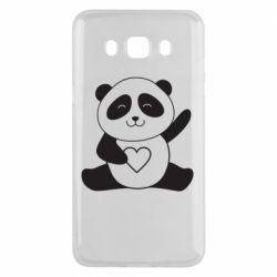Чохол для Samsung J5 2016 Panda and heart