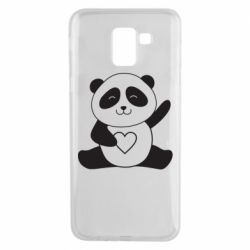 Чохол для Samsung J6 Panda and heart