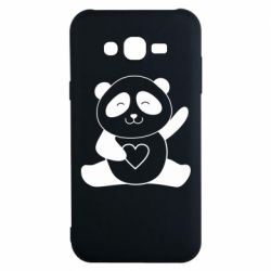 Чохол для Samsung J7 2015 Panda and heart