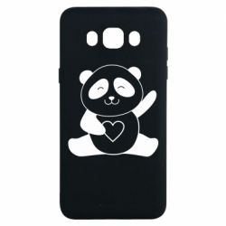 Чохол для Samsung J7 2016 Panda and heart