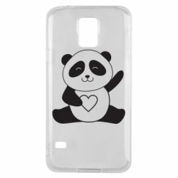 Чохол для Samsung S5 Panda and heart