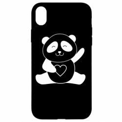 Чохол для iPhone XR Panda and heart