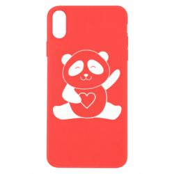Чохол для iPhone Xs Max Panda and heart
