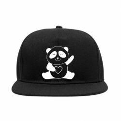 Снепбек Panda and heart