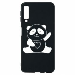 Чохол для Samsung A7 2018 Panda and heart