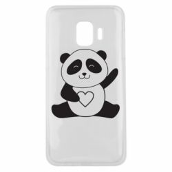 Чохол для Samsung J2 Core Panda and heart