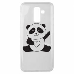 Чохол для Samsung J8 2018 Panda and heart