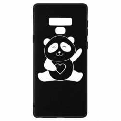 Чохол для Samsung Note 9 Panda and heart