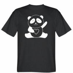 Чоловіча футболка Panda and heart