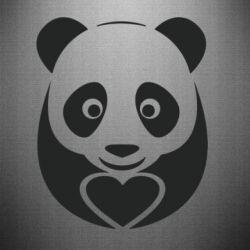 Наклейка Panda and heart