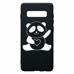 Чохол для Samsung S10+ Panda and heart
