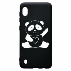 Чохол для Samsung A10 Panda and heart