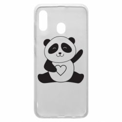 Чохол для Samsung A20 Panda and heart