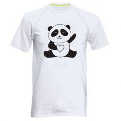 Чоловіча спортивна футболка Panda and heart