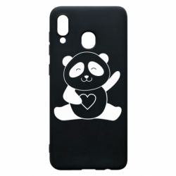 Чохол для Samsung A30 Panda and heart