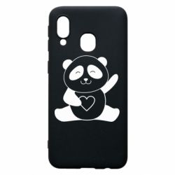 Чохол для Samsung A40 Panda and heart