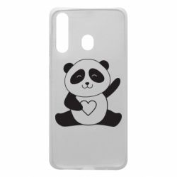 Чохол для Samsung A60 Panda and heart