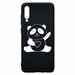Чохол для Samsung A70 Panda and heart