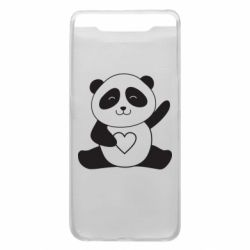Чохол для Samsung A80 Panda and heart