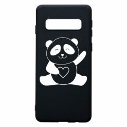 Чохол для Samsung S10 Panda and heart