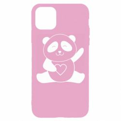 Чохол для iPhone 11 Pro Panda and heart