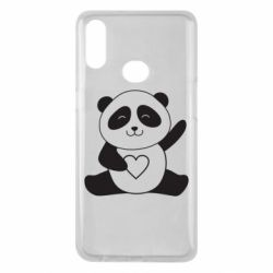 Чохол для Samsung A10s Panda and heart