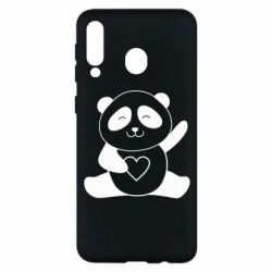 Чохол для Samsung M30 Panda and heart