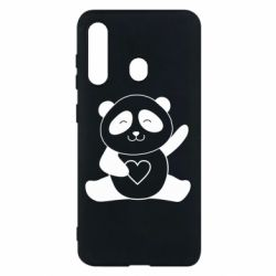 Чохол для Samsung M40 Panda and heart