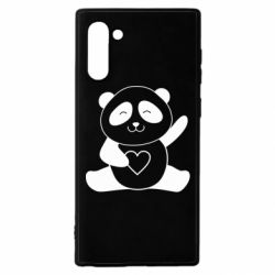 Чохол для Samsung Note 10 Panda and heart