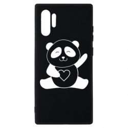 Чохол для Samsung Note 10 Plus Panda and heart