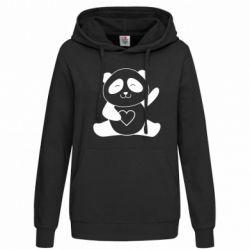 Толстовка жіноча Panda and heart