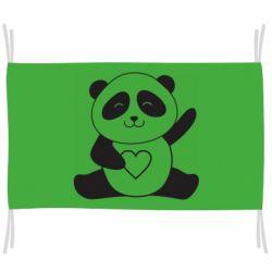 Прапор Panda and heart