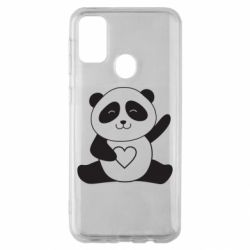 Чохол для Samsung M30s Panda and heart
